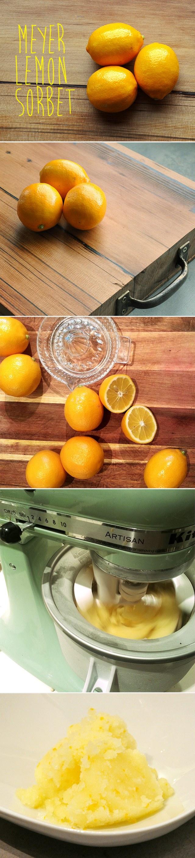 meyer lemon sorbet